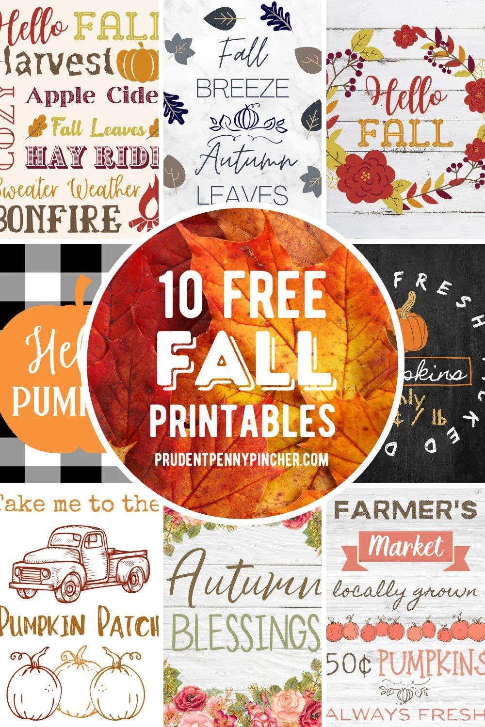 10 Free Fall Printables For Fall Decorating Prudent Penny Pincher