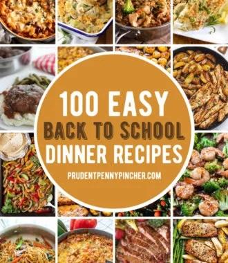back to school easy dinner recipes