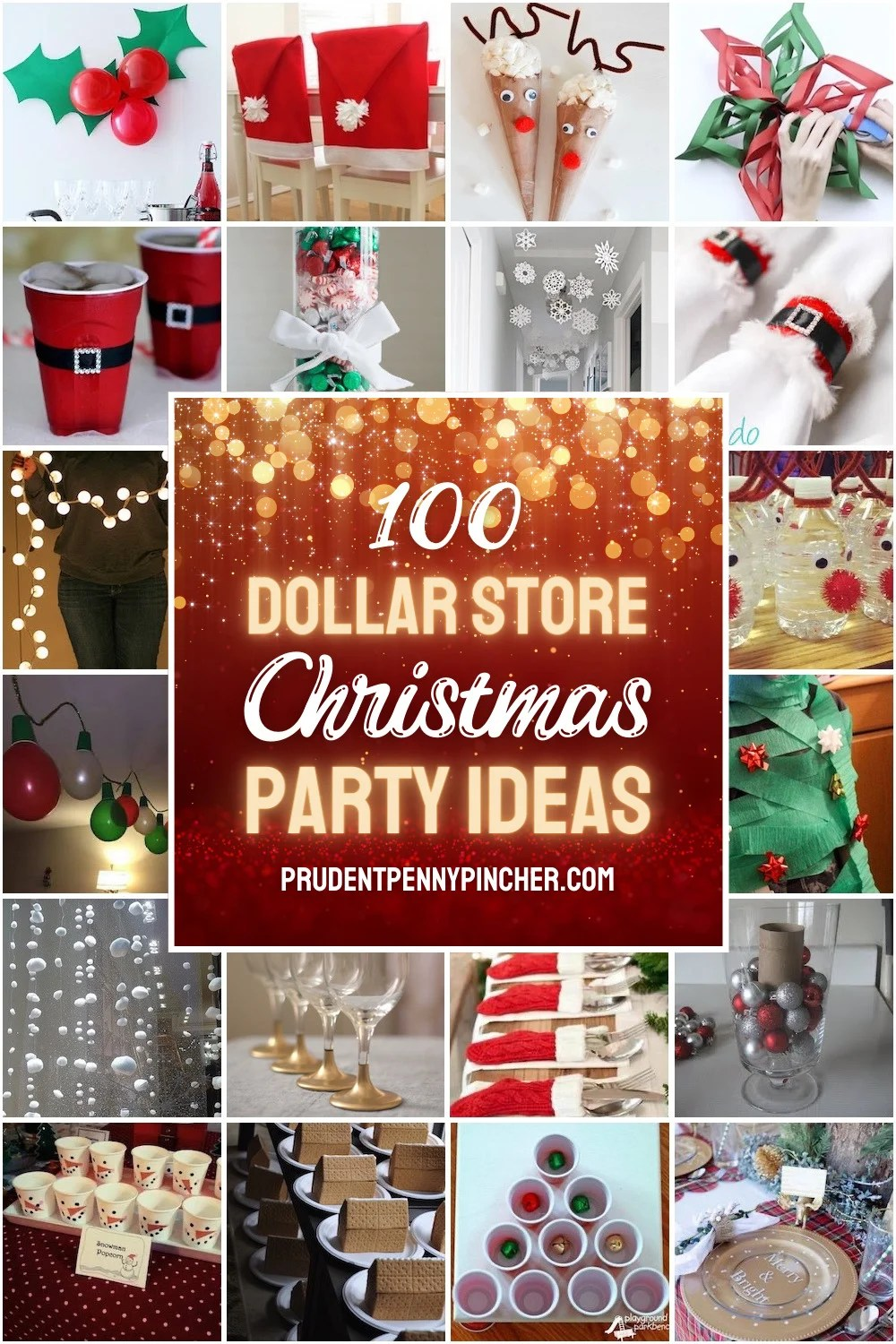 dollar store Christmas party ideas