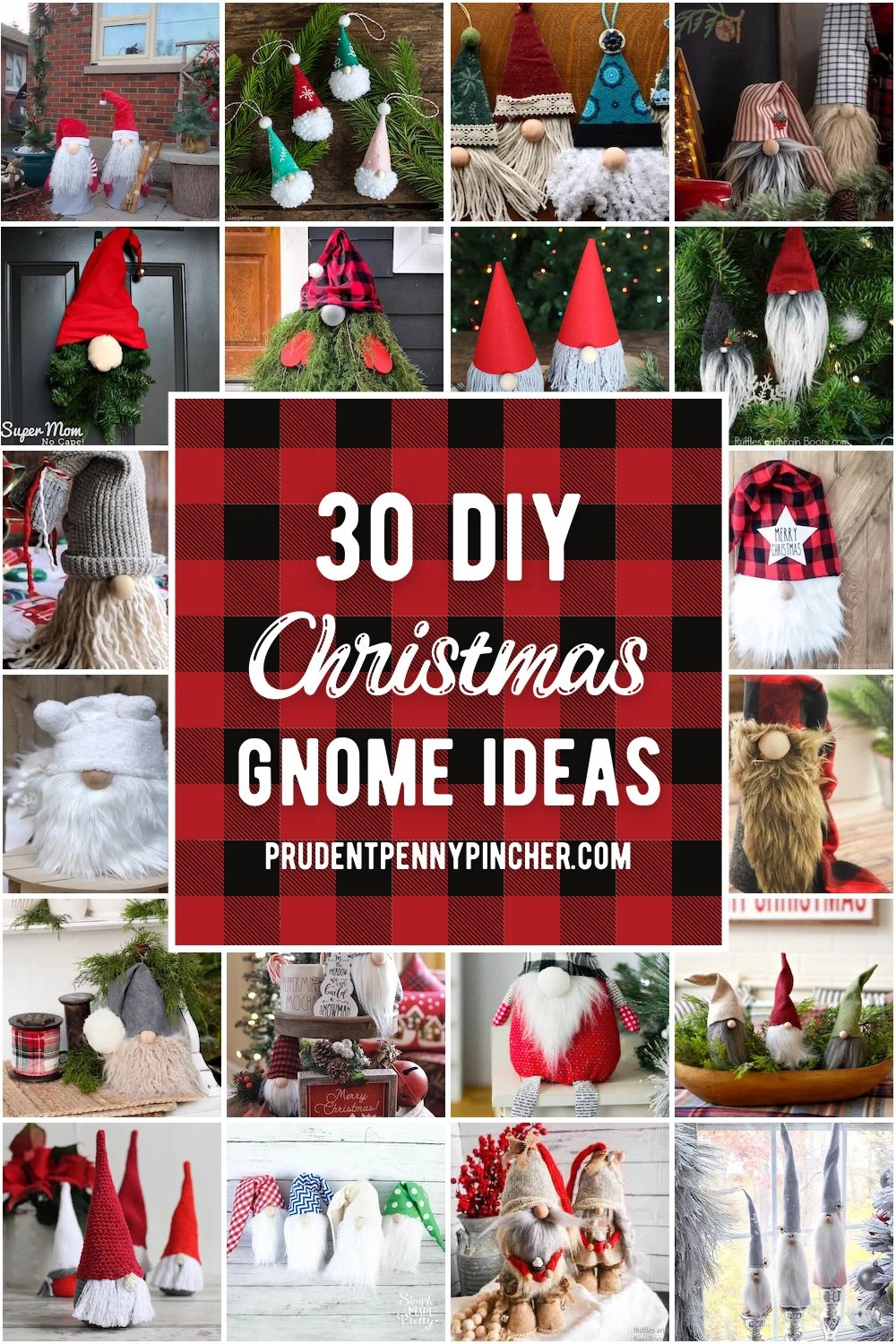 30 Diy Gnome Christmas Decor Ideas Prudent Penny Pincher