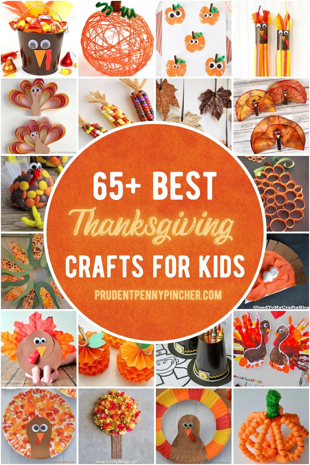 65 Best Thanksgiving Crafts For Kids Prudent Penny Pincher