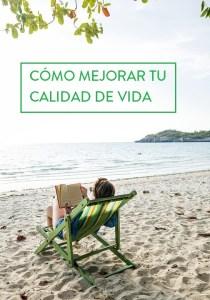 calidad de vida leyendo en playa