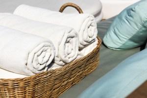 toallas enrolladas