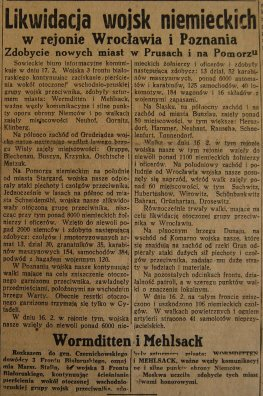 Rzeczpospolita nr 47 (niedziela), 18.02.1945.