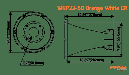 WGP22-50 Orange White CR