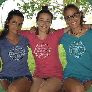 Ladies' Peached V-Neckline Good Life T-Shirt