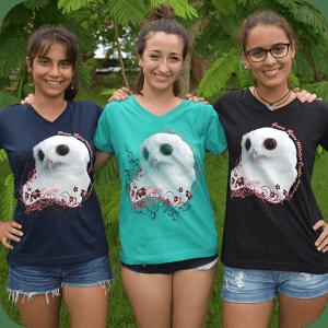Larger than Life Luna ladies v-neckline t-shirt