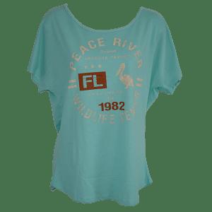 Ladies Dolman Sleeve T-Shirt Aqua