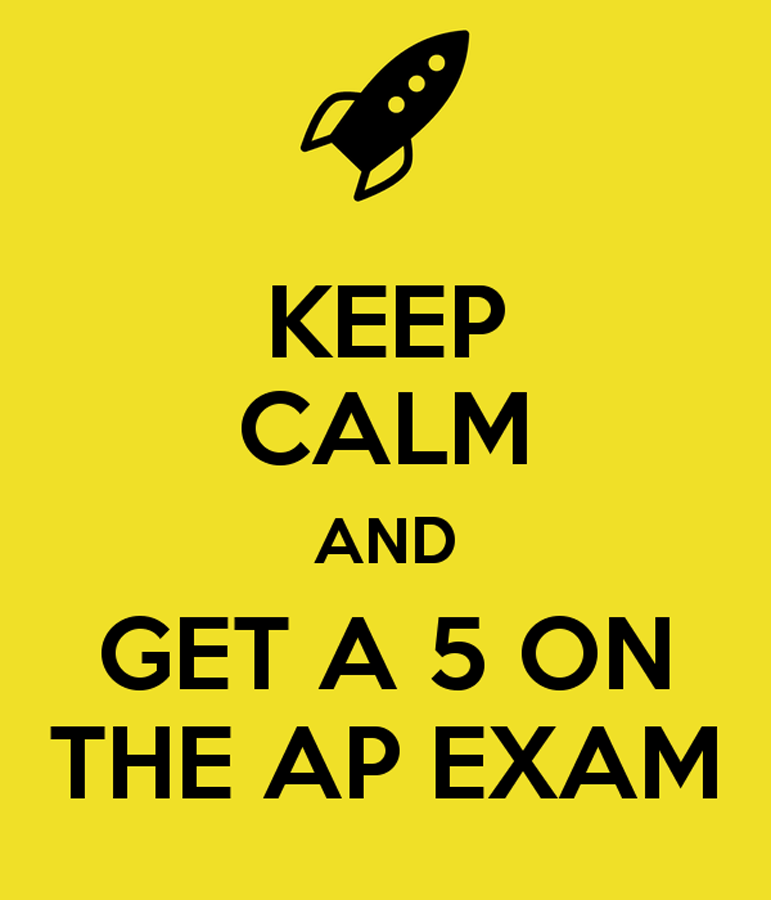 The+Prairie+Ridge+Library%27s+cart+of+AP+test+resources+displays+this+sign.+