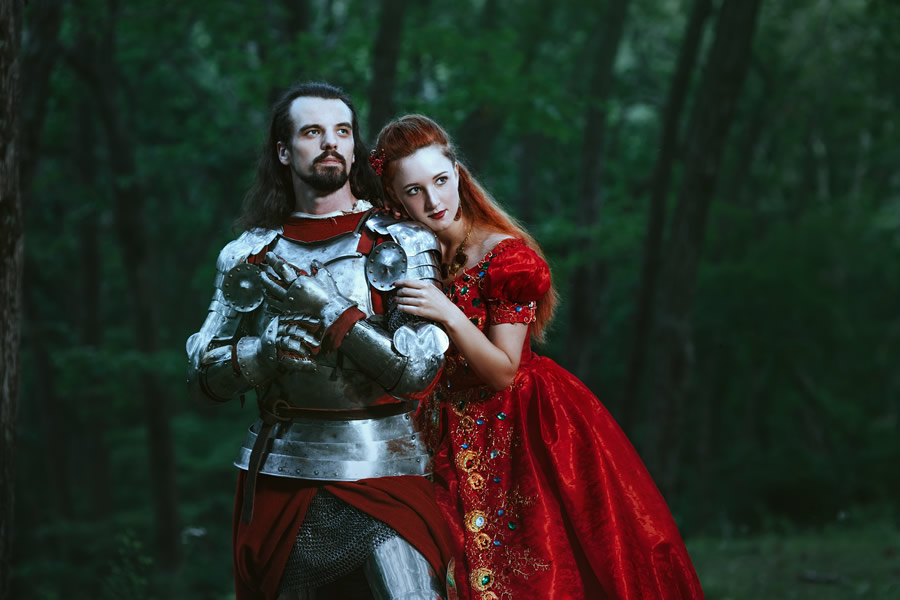 happily-ever-after-knight-princess-red-dress