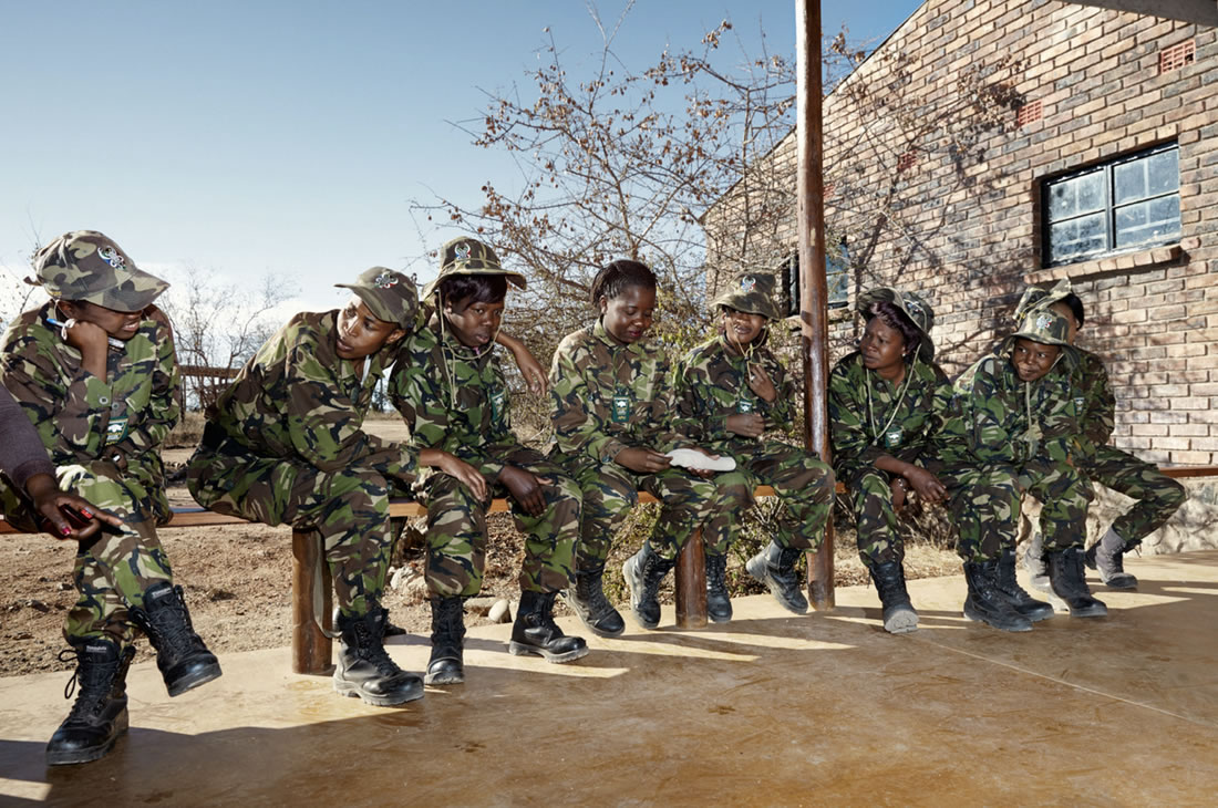 Black Mambas Women Anti-poaching Unit - group-of-women-sitting-at-headquarters