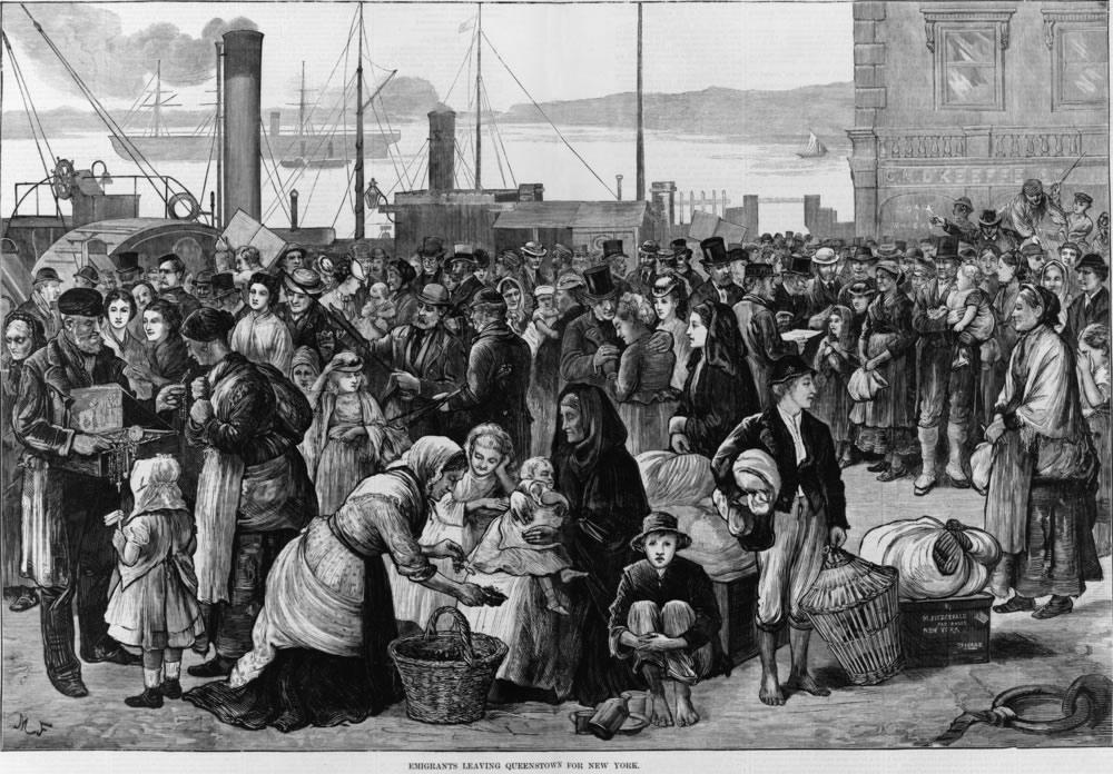 Halloween History - Irish Immigrants leaving Ireland.jpg