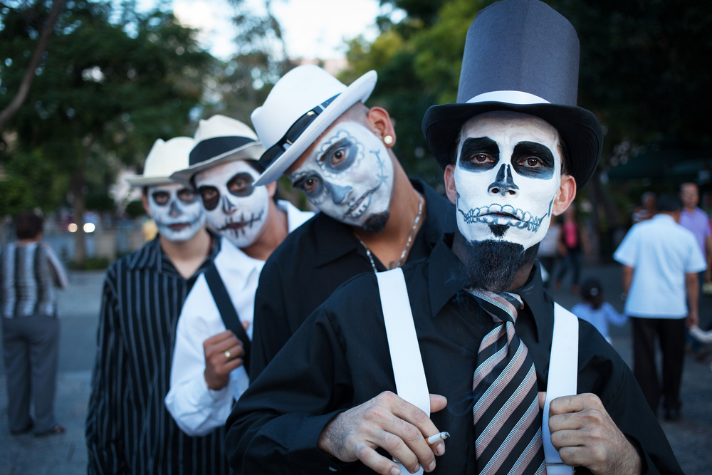 Day of the Dead - musicians on a cemetery in the Day of the Dead, Aguacalientes, Mexico