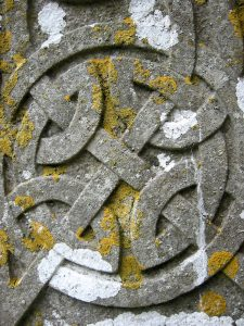 Halloween History - Celtic Symbol Gravestone