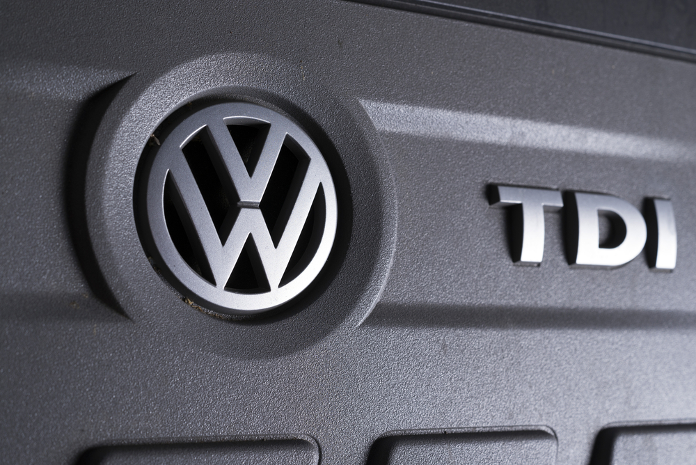 VW Emissions Engine of a Volkswagen Tiguan. diesel fuel