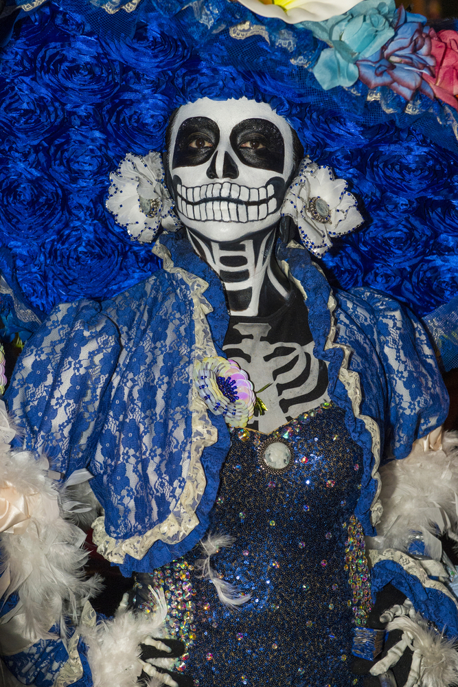 Day of the Dead - participant on a carnival of the Day of the Dead in Oaxaca, Mexico