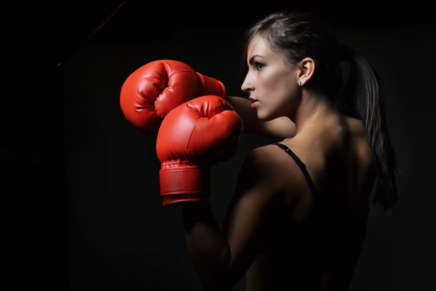 Power - female-boxer-with-red-gloves