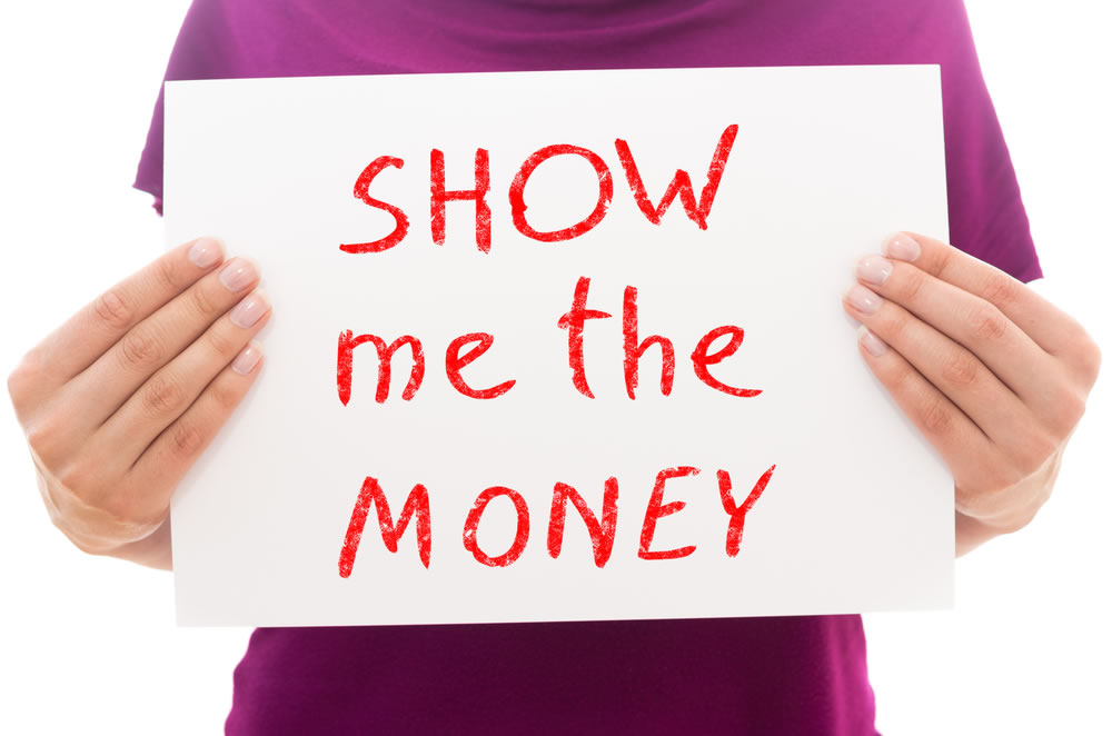 Gender Differences - woman-with-show-me-the-money-sign