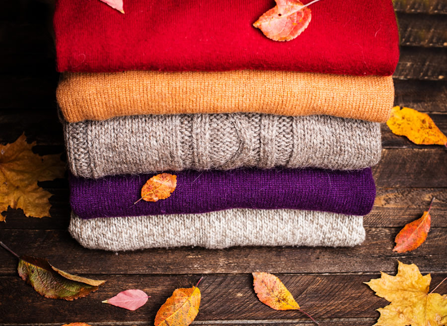 Organized Closet - fall-clothing-sweaters