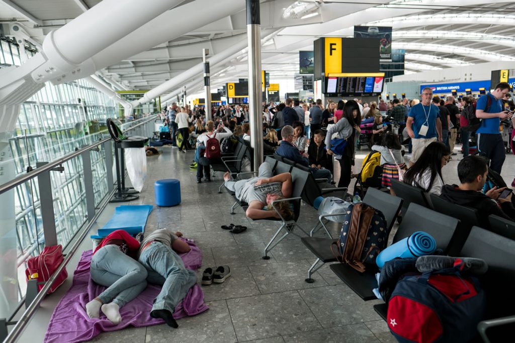 British Airways disruption at Terminals May 29 2017