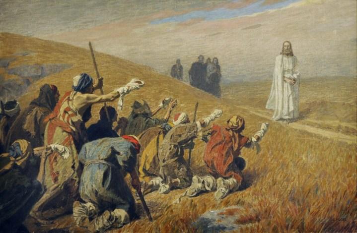 """Résultat de recherche d'images pour """"christ and leper"""""""