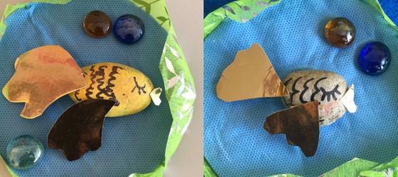 Złota rybka-praca plastyczna