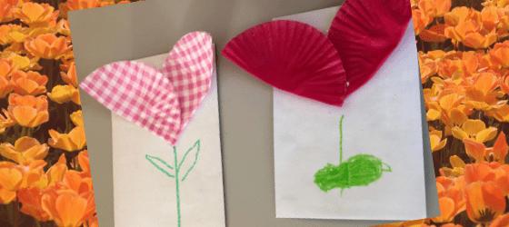 Kwiatek – papilotki i koperta