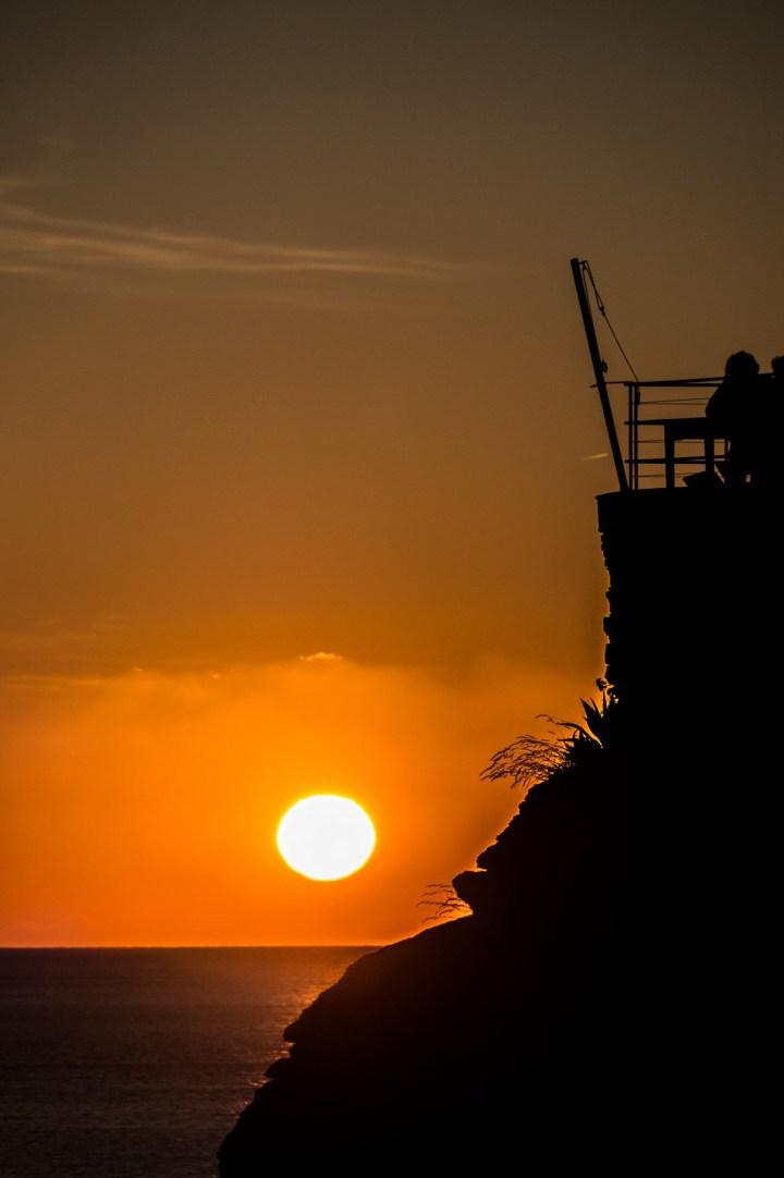Cinque Terre - Riomaggiore, zachód słońca