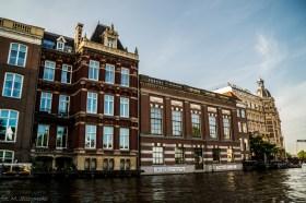 Amsterdam - z poziomu wody