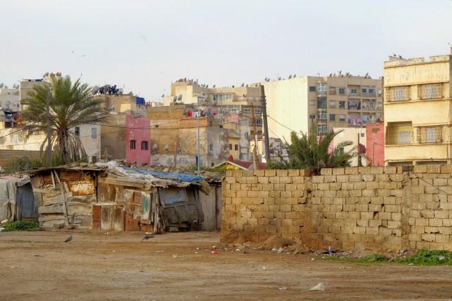 Zaniedbane domy w Casablance