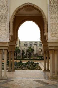 Casablanca - przed Meczetem Hassana II