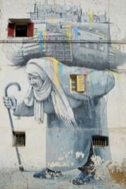 Casablanca - mural na jednej z ulic