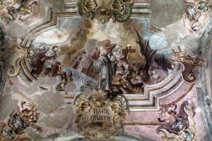 malowidło naścienne z biblijna sceną
