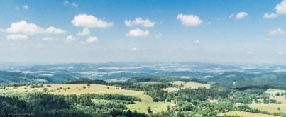 Szczeliniec - widok ze szczytu