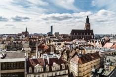 Wrocław - Widok z Uniwersytetu Wrocławskiego