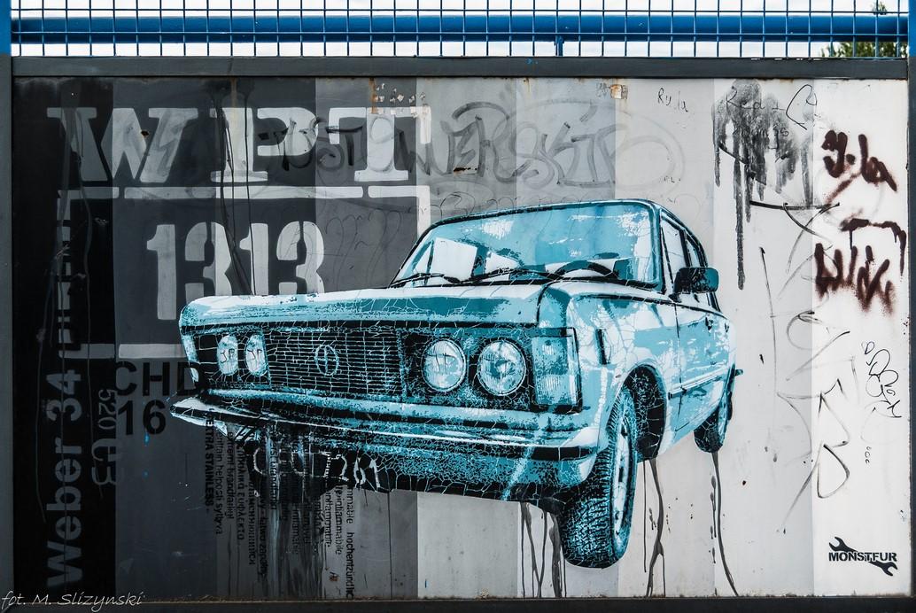 częstochowa - mural samochód