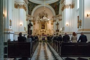 stare powązki - Kościół św. Karola Boromeusza wnętrze