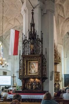 atrakcje malborka - kościół jana chrzciciela obraz