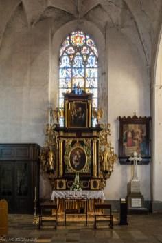 atrakcje malborka - kościół jana chrzciciela ołtarz boczny