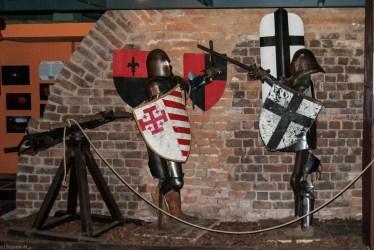 Wystawa w podziemiach zamku - baranów sandomierski