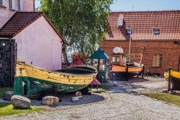 półwysep helski - Muzeum Rybołówstwa ekspozycja na zewnątrz