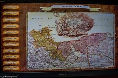 Muzeum Wsi Słowińskiej mapa pomorza 1648 kluki