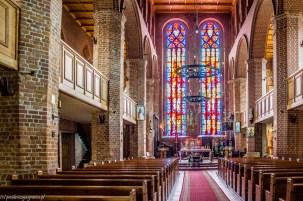 wnętrze kościoła św mikołaja wolin - na północ od szczecina