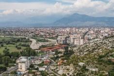 Twierdza Rozafa widok na Szkodrę albania