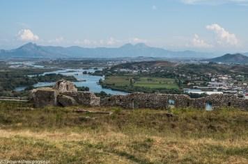 Twierdza Rozafa widok okolicy - granicy albanii i czarnogóry