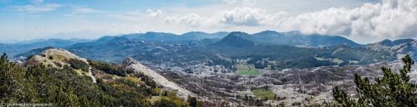 Panorama ze szczytu - Góry Lovcen