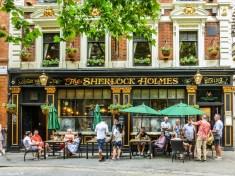 pub angielski the sherlock holmes londyn