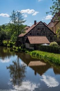 warmia - lidzbark warmiński dom nad rzeką łyna
