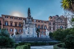 Palermo - Teatro Marmoreo, pomnik barokowy z XVII w.