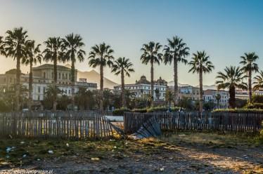 Sycylia - śmieci dosłownie wszędzie, bulwary w Palermo